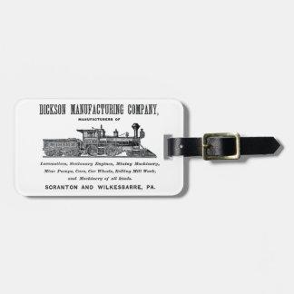 Alco - Dickson Manufacturing Company 1856 Etiquetas Para Maletas