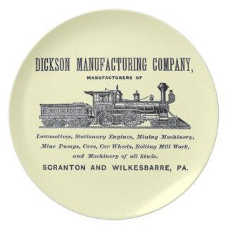Alco - Dickson Manufacturing Company 1856 Plate