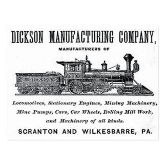 Alco - Dickson Manufacturing Company 1856 Postcard
