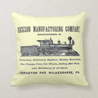 Alco - Dickson Manufacturing Company 1856 Throw Pillow