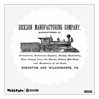 Alco-Dickson Manufacturing Company 1856 Wall Decal