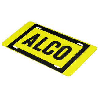 ALCO-Powered by Alco Locomotive Company License Plate