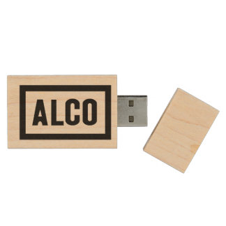 ALCO-Powered by Alco Locomotive Company Wood USB Flash Drive