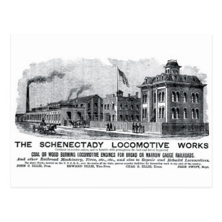 Alco-Schenectady Locomotive Works, 1870 Postcard