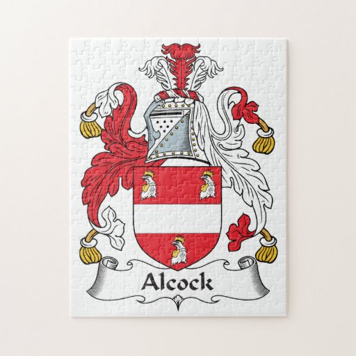 Alcock Family Crest Jigsaw Puzzles