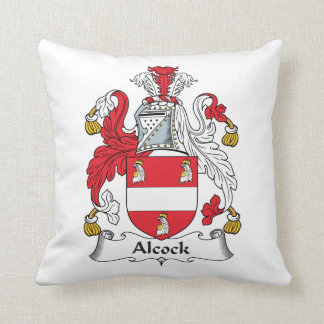 Alcock Family Crest Pillow