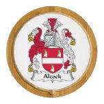 Alcock Family Crest Round Cheese Board