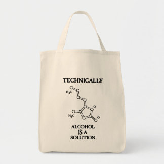 Alcohol, A Solution Grocery Tote Bag