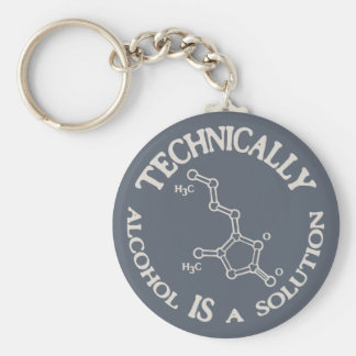 Alcohol, A Solution Keychain