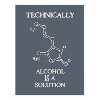 Alcohol, A Solution Postcard