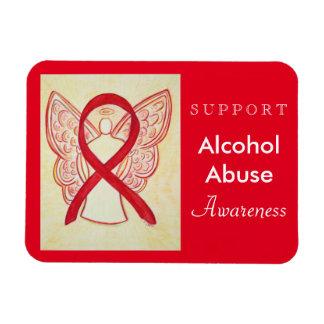 Alcohol Abuse Awareness Ribbon Angel Custom Magnet