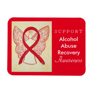 Alcohol Abuse Recovery Awareness Ribbon Magnet