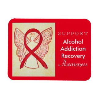 Alcohol Addiction Recovery Awareness Ribbon Magnet Rectangular Photo ...
