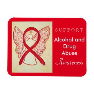 Alcohol and Drug Abuse Awareness Ribbon Magnet