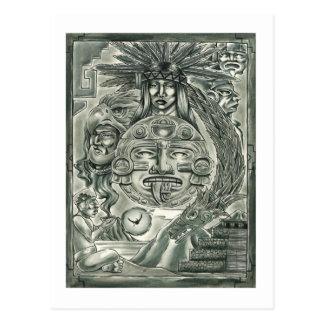 Alcohol azteca tarjeta postal