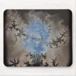 Alcohol azul en niebla del fractal tapetes de raton