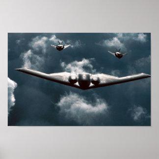 Alcohol B-2 y Nighthawks F-117 Póster