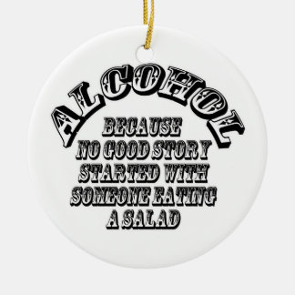 Alcohol - because ceramic ornament