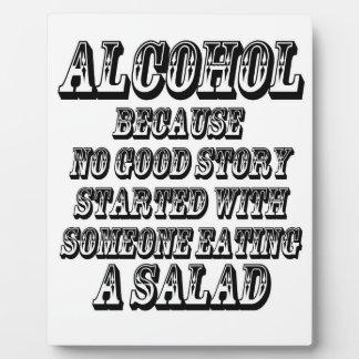 ALCOHOL - Because Plaque