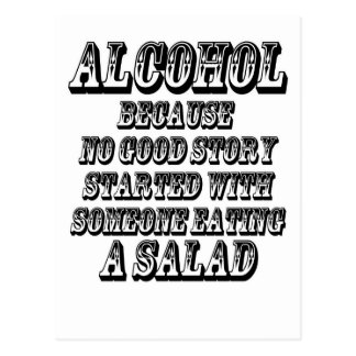 ALCOHOL - Because Postcard