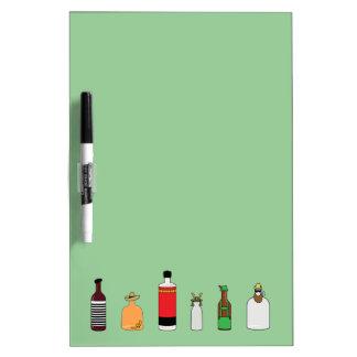 Alcohol bottles of the world Dry-Erase whiteboards