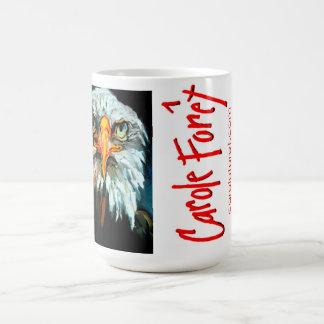 Alcohol calvo y intrépido taza de café