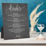 "Alcohol Cocktail Drinks Bar Editable Wedding Sign Plaque<br><div class=""desc"">Editable chalk rustic drinks sign for your wedding reception bar!</div>"