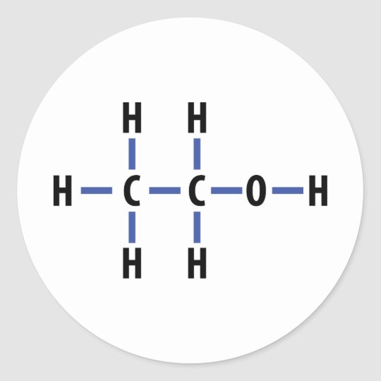 alcohol compound classic round sticker