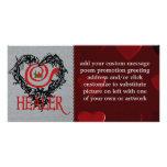 Alcohol curativo tarjetas personales con fotos
