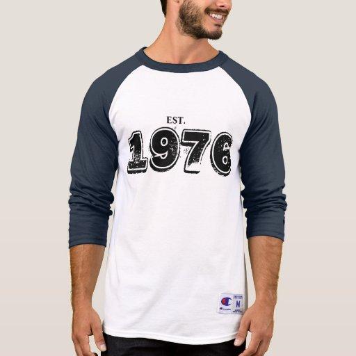 Alcohol de 1976 camisas para hombre camiseta