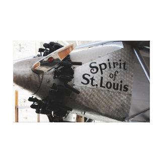 Alcohol de Charles Lindbergh de la reproducción de Impresión En Lona Estirada