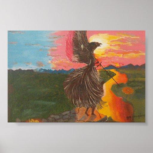 Alcohol de Eagle de los Shamans Poster