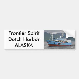 Alcohol de frontera, palangrero en el puerto holan pegatina para auto