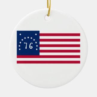 Alcohol de la bandera de Estados Unidos Bennington Adorno Redondo De Cerámica