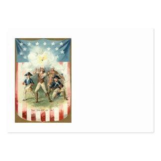 Alcohol de la bandera de los E.E.U.U. del muchacho Tarjetas De Visita Grandes