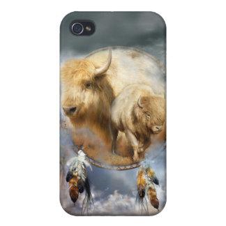 Alcohol de la caja blanca del arte del búfalo para iPhone 4 cobertura