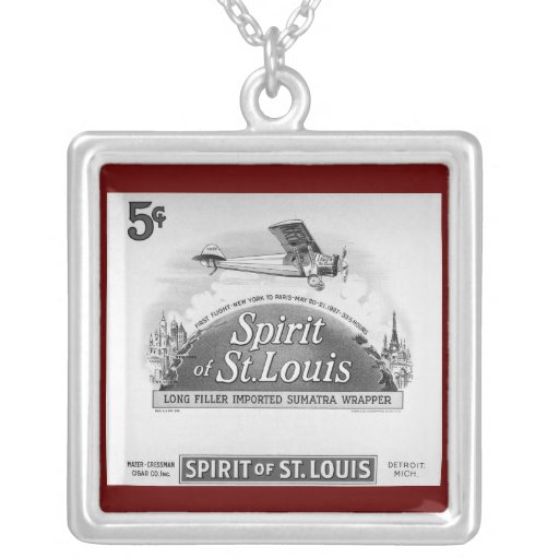 Alcohol de la envoltura del cigarro de St. Louis Colgante Cuadrado