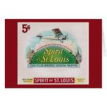 Alcohol de la etiqueta del cigarro del vintage de tarjeta de felicitación