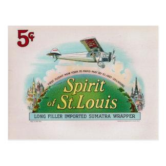 Alcohol de la etiqueta del cigarro del vintage de postal