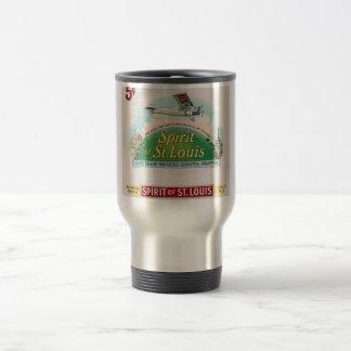 Alcohol de la etiqueta del cigarro del vintage de taza térmica