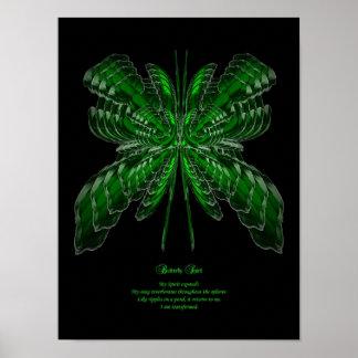 Alcohol de la mariposa póster