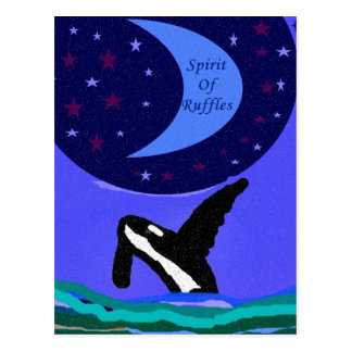 alcohol de la postal de la orca de los volantes
