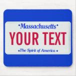 Alcohol de Massachusetts de la placa de América Alfombrilla De Ratón