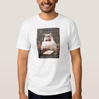 Alcohol de Meme del gato de la química Playera