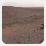 Alcohol de Rover de la exploración de Marte Pegatina Cuadrada