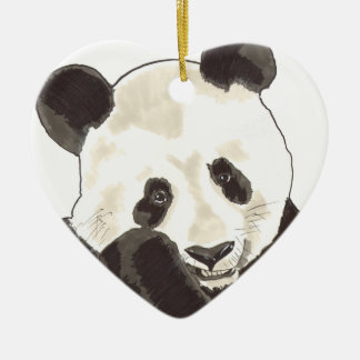 Alcohol de Shamanic de la panda Adorno De Cerámica En Forma De Corazón