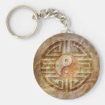 Alcohol de Yin y de Yang Llaveros Personalizados