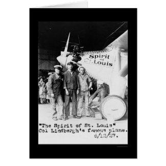 Alcohol del aeroplano 1927 de St. Louis Tarjeton