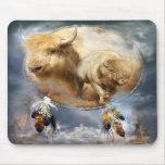 Alcohol del arte blanco Mousepad del búfalo Alfombrillas De Ratón