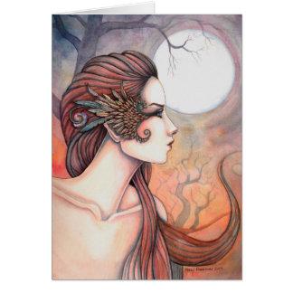 Alcohol del arte griego de la fantasía de la diosa tarjeta de felicitación